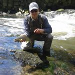 Gerald Penkler with a Welsh brown trout