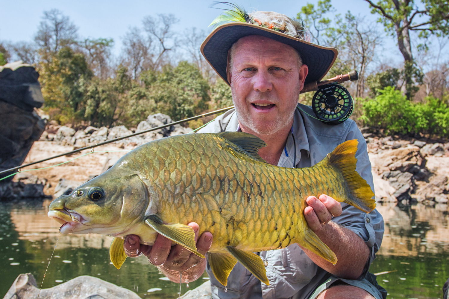 "It's rare for fly anglers to focus on something else at the expense of three species of tigerfish and 8lb yellowfish, but on recent exploratories to Tourette Fishing's new fishery in Cameroon, the focus was 98% on the mammoth riverine Nile perch they found. That doesn't mean the 2% ""bycatch"" was not of interest. In an outtake from his issue 10 story 'Capitaine', Ed Truter weighs in on what else you can target when fly fishing in Cameroon."