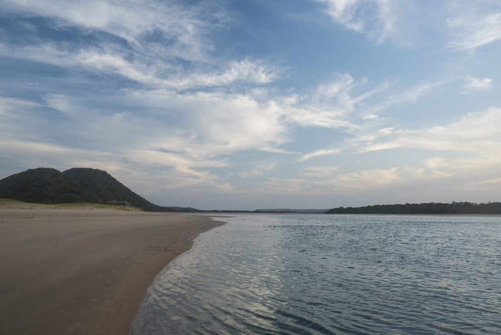 River mouth up on the East Coast of South Africa