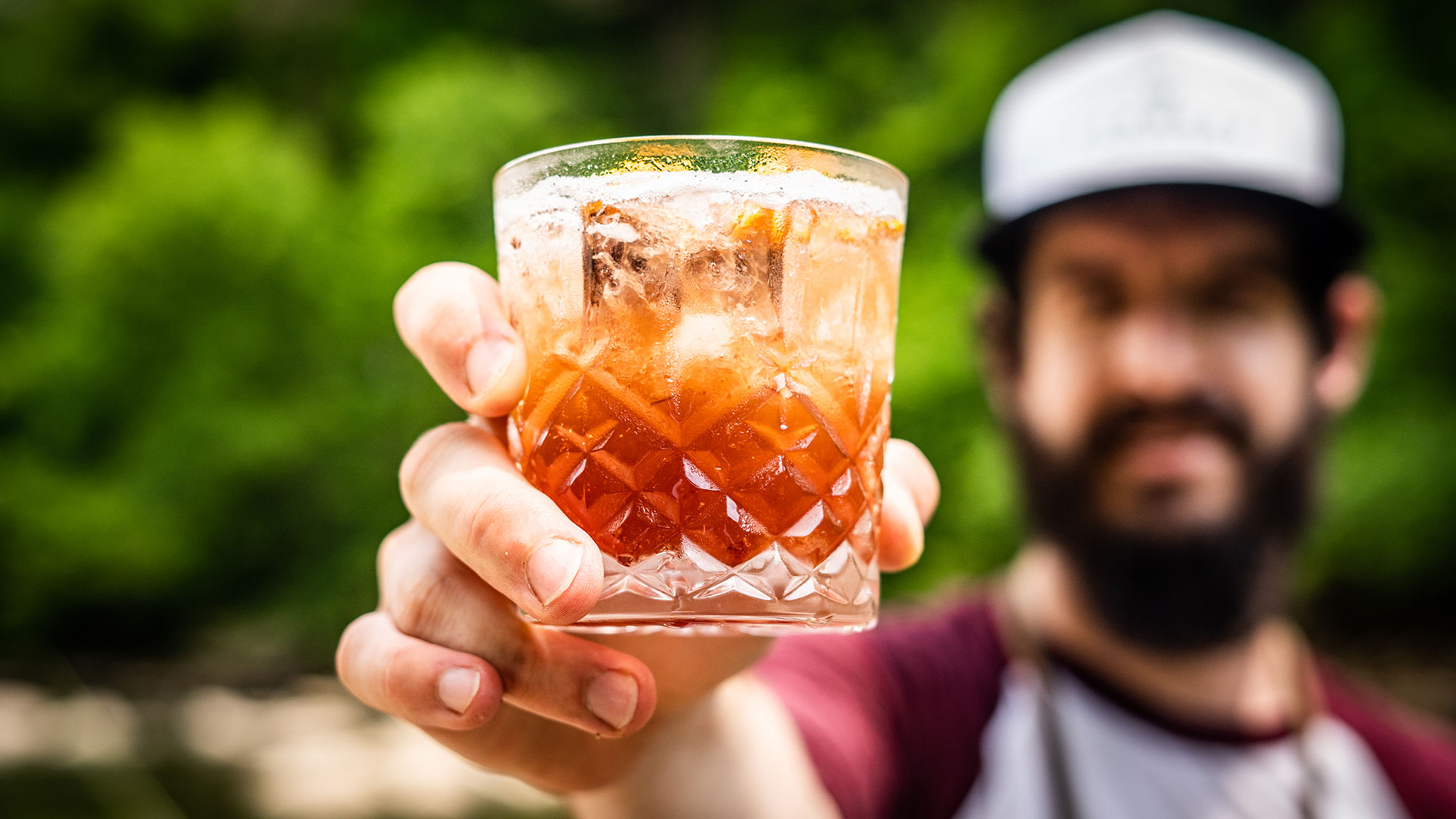 AJ Gottschalk with and Old Fashioned cocktail