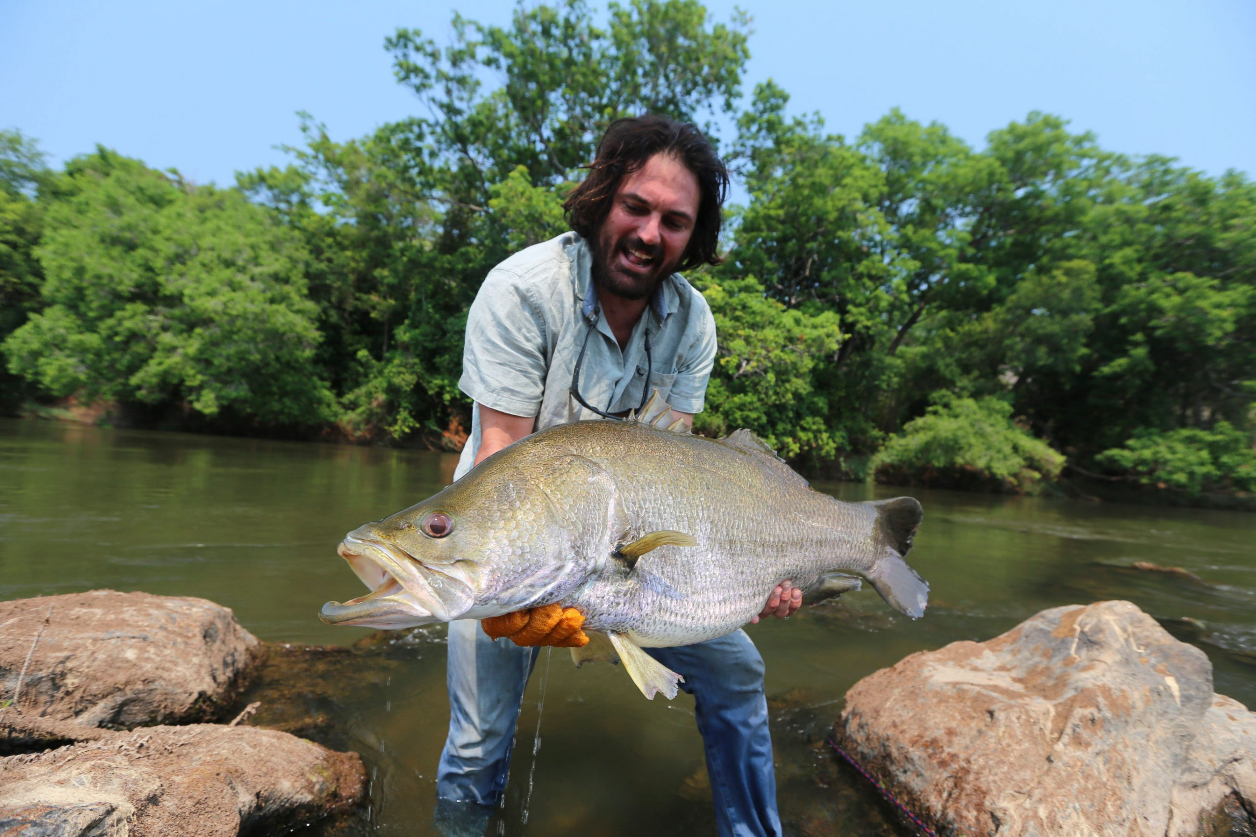 Ed Ghaui with a Nile perch