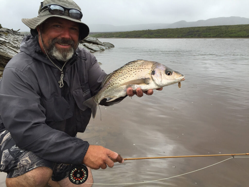 Mark Krige with a grunter from Karoolskraal on the Breede river