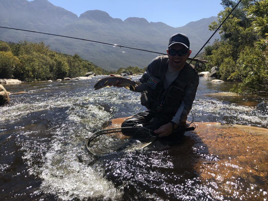 Early season low down on the Smalblaar. Challenging wading but well worth it.