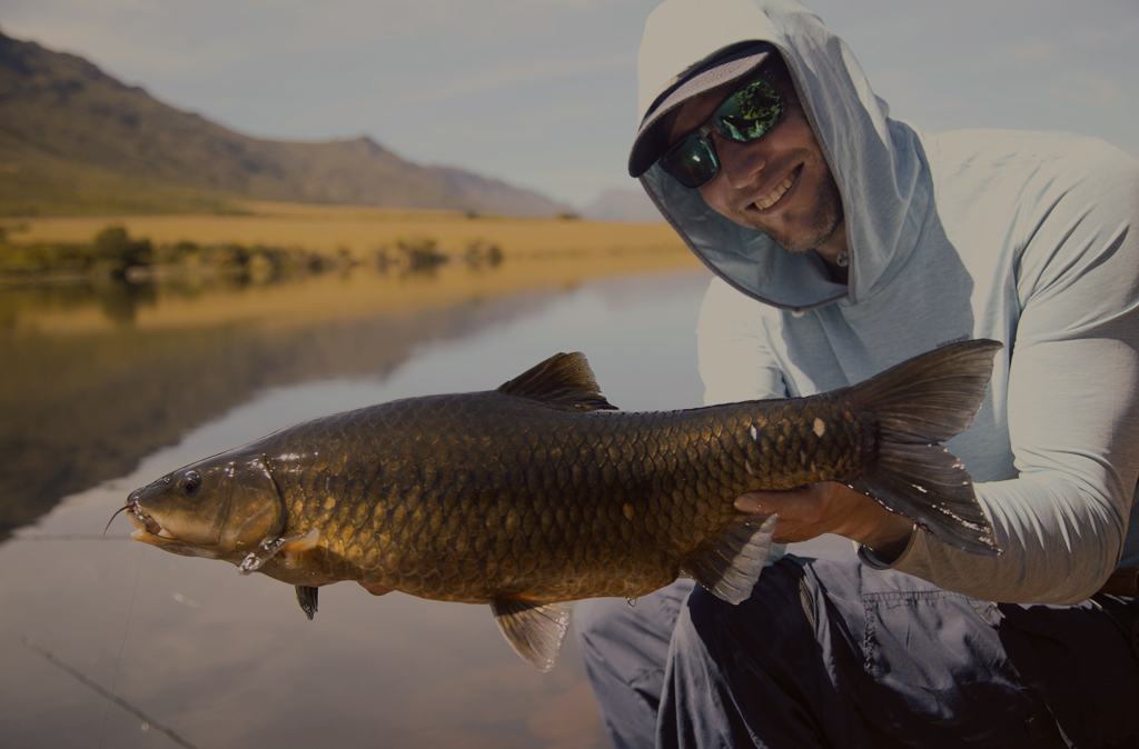 Leonard Flemming with an amazing specimen of a witvis
