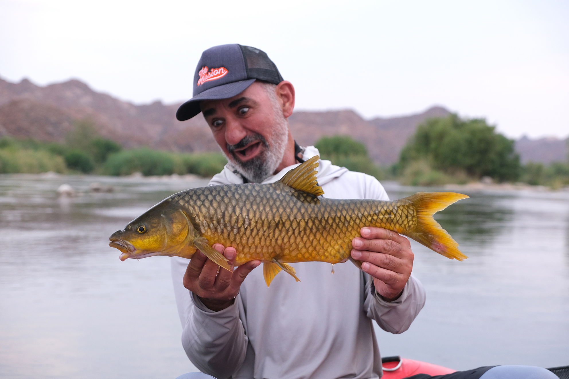 Platon Trakoshis with an Orange river smallmouth yellowfish