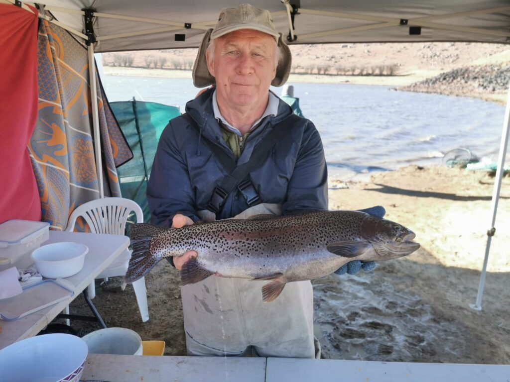 Martin Davies with one of his Thrift trout