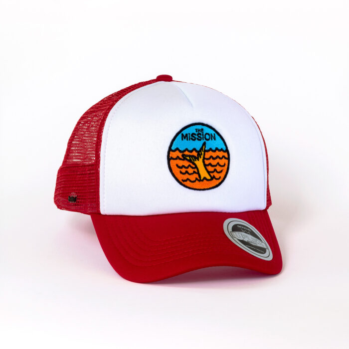 The Yella Fella Trucker in red
