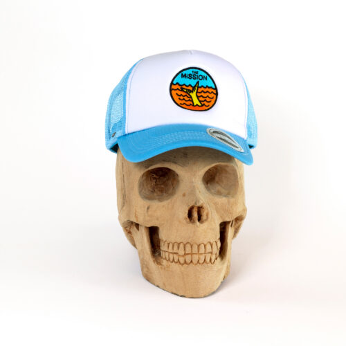 The Yella Fella Trucker in blue