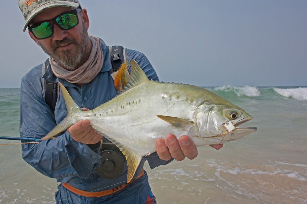 Conrad Botes with a tropical leervis caught in Gabon