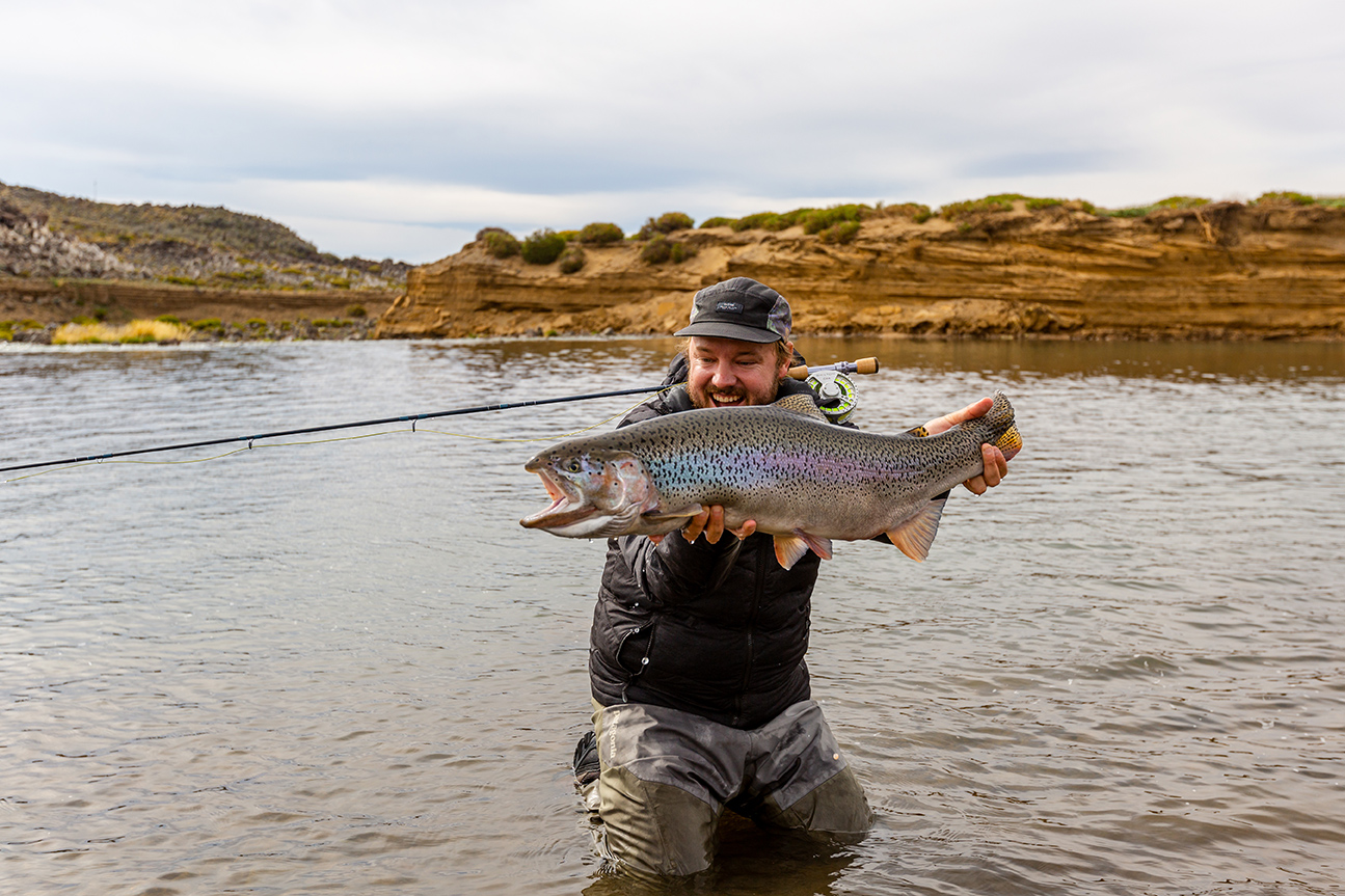 Ryan Janssens with a Jurassic Lake rainbow trout