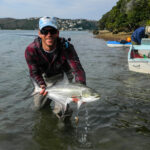 Fred Davis with a leervis from the Garden Route
