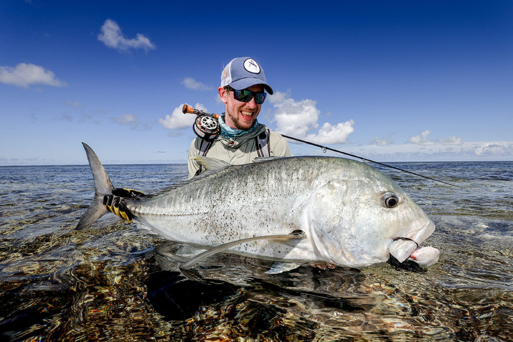Paulo Hoffmann and a Giant Trevally from Cosmoledo