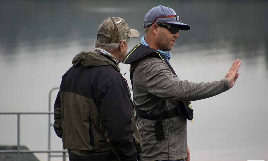 MC Coetzer at a fly fishing competition