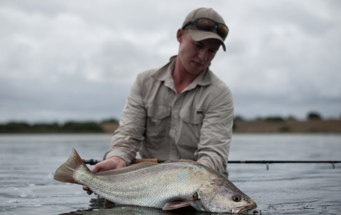 Tim Leppan with a kob in the Western Cape